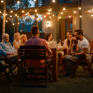 outdoor backyard party